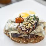Gratinated Portobello Mushrooms & Berry Glazed Duck Liver
