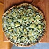 Pesto and Zucchini Pizza
